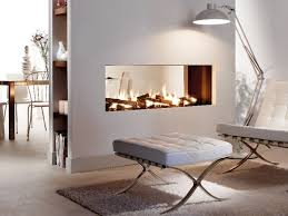 double sided gas central fireplace