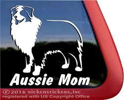 Aussie Mom Australian Shepherd Dog Stickers Decals Nickerstickers