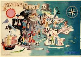 Map Of Never Never Land Peter Pan Disney Mary Blair Disney Art