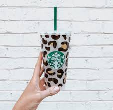 How To Apply Leopard Print Pattern To A Starbucks Tumbler Kayla Makes