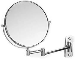 wall mount makeup mirror foldable