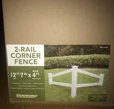 Amazon Com 2 Rail Corner Decorative Fence Garden Outdoor