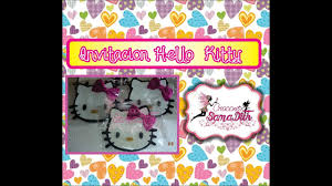 Como Hacer Invitacion Hello Kitty En Foami O Goma Eva Diy By