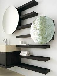 round bathroom mirror with shelf home