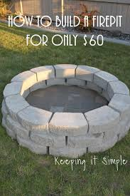 how to build a diy fire pit for only