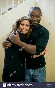 Left to right: Author Ashley Smith and David Oyelowo on the set of Captive  from Paramount Pictures Stock Photo - Alamy