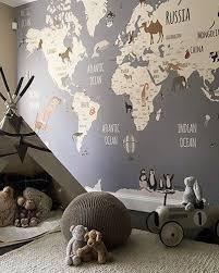 World Map Explorers I Little Hands Kids Playroom Decor Kids Room Design Childrens Playroom