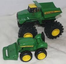 john deere toy monster truck and small