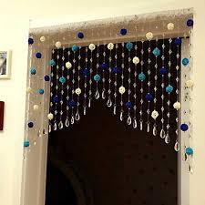 diy rattan ball crystal bead curtain