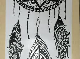 Dream Catcher Decal Monogram Dreamcatcher Wall Art Uk Owl Mandala Canvas Plaque Large Vamosrayos