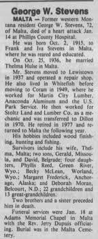 Obituary for George W. Stevens (Aged 72) - Newspapers.com