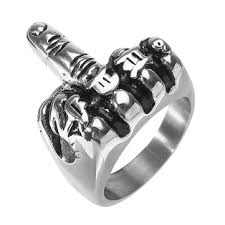 punk snless steel ring cool middle