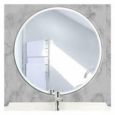 large bathroom round wall mirror with