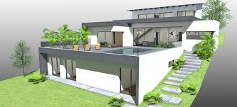 maison contemporaine sur terrain à