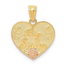 quality gold 14k two tone big sister