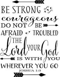 Joshua 1 9 Wall Quote Decor Decal Sticker Choose Size And Color High Quality Ebay