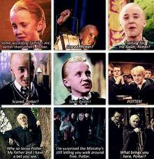 draco malfoy quotes he is obsessed saying potter but don t
