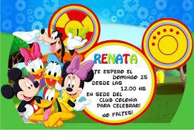 Invitaciones Tarjetas Cumpleanos Mickey 20 X 150 150 00 En