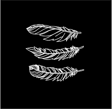 Feathers Set Of 3 Custom Vinyl Decals Car Truck Window Boho Stickers Customvinyldecals4u