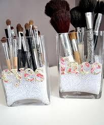 diy makeup brush holder use letters