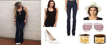 Ladies of London: Adela King`s Jeans, Black Tank Top, Hat ...