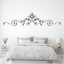 Royal Floral Border Wall Sticker Headboard Wall Decal Bedroom Home Decor Ebay