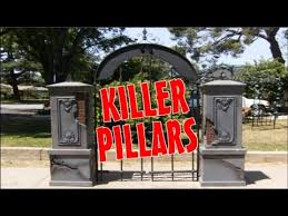 Diy Halloween Fence Entrance Columns Gate Brick Pillars Halloween Graveyard Ideas Youtube