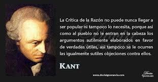 Frase de Inmanuel Kant. Imagen de Docta... - Sociedad De Filosofía Aplicada  | Facebook