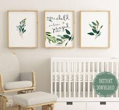 verse wall art for nursery for