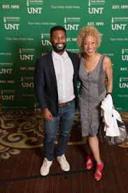 Wesley Morris and Margo Jefferson standing together] - The Portal to Texas  History