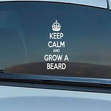 Amazon Com Keep Calm And Grow A Beard Car Decals Stickers White 12 Home Kitchen