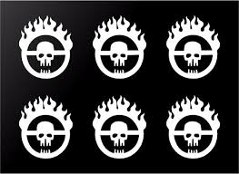 6 Mad Max Fury Road Skull Logo Vinyl Decals Car Window Laptop Phone 2 Kandy Vinyl Shop