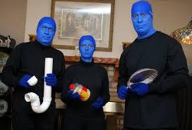 blue man group makeup or mask