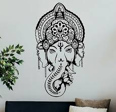 Ganesha Wall Decal Buddhism Wall Decor Lord Ganesh Vinyl Sticker Home Decor Art Ebay