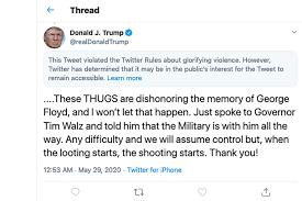 Twitter Obscures, Warns on Trump Tweet 'Glorifying Violence' | Florida News