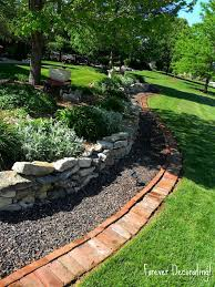 landscaping instead of black edging