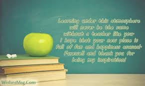 farewell quotes for teacher farewell wishes messages