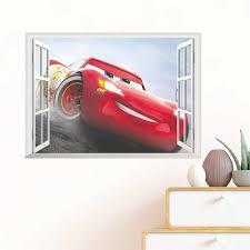 Cartoon Disney Cars 3 Mcqueen Window Wall Stickers For Nursery Kids Rooms Home Decor 3d Wall Decals Pvc Mural Art Diy Decoration Wall Stickers Aliexpress