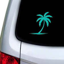 Amazon Com Stickany Car And Auto Decal Series Palm Tree Shadow Sticker For Windows Doors Hoods Turquoise Automotive