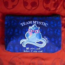 team mystic makeup bag fluffy tori