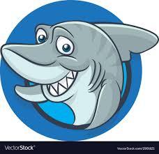funny shark mascot royalty free vector