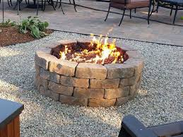 how to build a propane fire pit fire