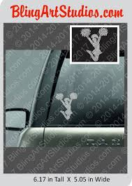 Cheer Rhinestone Decal Sticker Bling Cheerleader Window Sticker Rhinestone Cheer Car Decal Cheer Rhinestone Sticker Cheer Mom Sticker Rhinestone Decal Clear Decals Rhinestone Car Decal