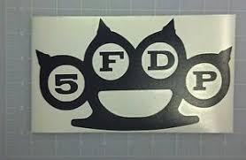 Five Finger Death Punch 5fdp Vinyl Sticker Decal Bumper Car Window Laptop Usa Ebay