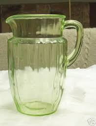 green depression glass pitcher slubne