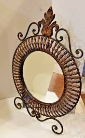 artistic copper framed mirror w stand