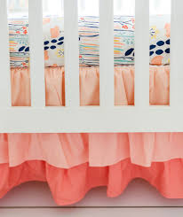 peach crib skirt ruffle crib skirt