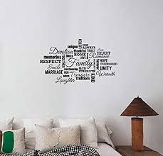 Amazon Com A Good Decals Usa Family Word Cloud Wall Decal Vinyl Lettering Inspirational Quotes Sticker Home Love Faith Saying Art Decorations Living Room Bedroom Entryway Decor Ideas Hq46 Home Kitchen