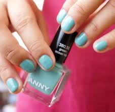 notd anny nail polish in green ocean