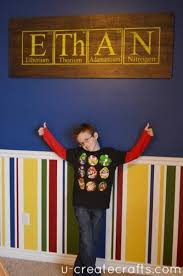 Personalized Periodic Elements Pallet Project Science Bedroom Science Room Boy Room